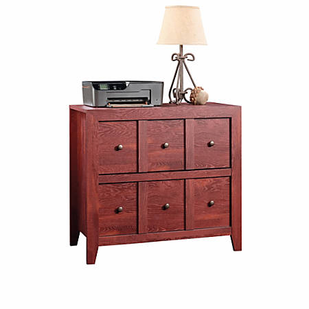 "Sauder® Anywhere Solutions Filing Cabinet, 2 Drawers, 33 1/2""H x 36 3/10""W x 19 1/2""D, Fiery Pine"