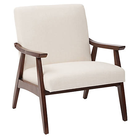 Ave Six Davis Chair, Linen/Medium Espresso