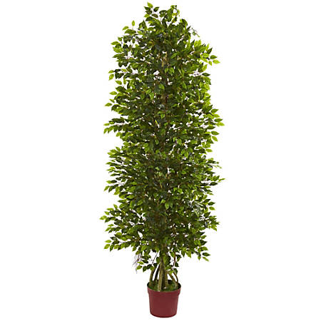 Nearly Natural 6'H 4-Tier Mini Ficus Tree, Green