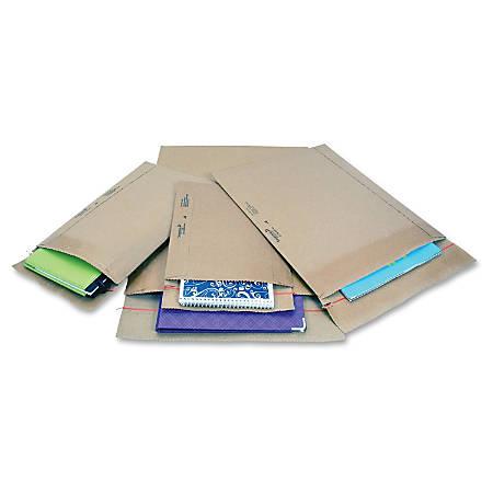 "Jiffy Mailer Jiffy Rigi Bag Mailers - Shipping - #5 - 10 1/2"" Width x 14"" Length - Self-sealing - Kraft, Fiberboard - 150 / Carton - Natural Kraft"