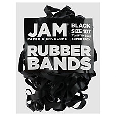 JAM Paper Rubber Bands Black Size