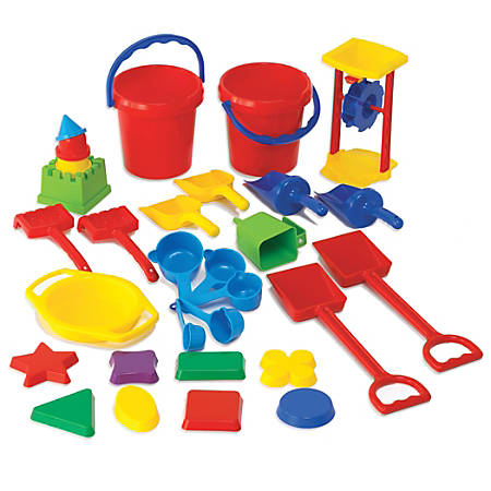 Learning Advantage Sand Play Tool Set, Assorted Colors