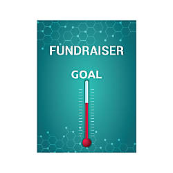 Plastic Sign Fundraiser Goal Vertical