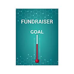 Plastic Sign Fundraiser Goal Vertical