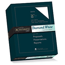 Southworth Diamond White 25percent Cotton Business