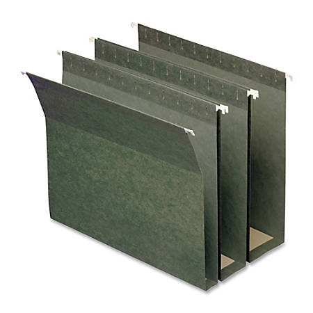 Smead® Hanging Box Bottom Folders, Letter Size, Assorted Expansions, 30% Recycled, Green, Box Of 25