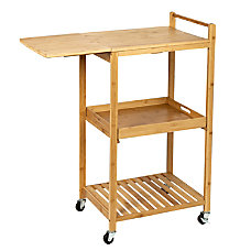Honey Can Do Bamboo Kitchen Cart