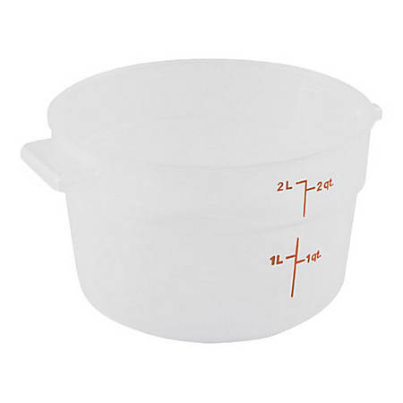 Cambro Food Storage Container, 2 Qt, Clear