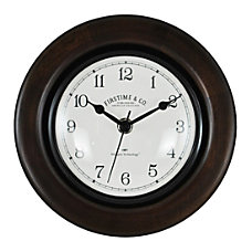 FirsTime Co Evans Wall Clock Espresso