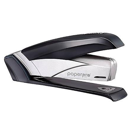 PaperPro® inFLUENCE+ One-Finger Premium Desktop Stapler, Black/Silver