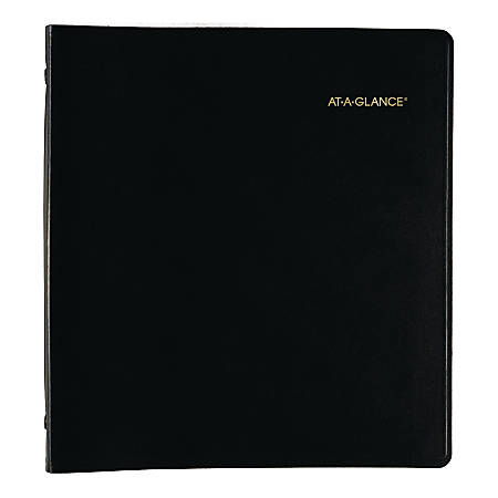 "AT-A-GLANCE® 36-Month Monthly Planner, 9"" x 11"", Black, January 2020 to December 2022"