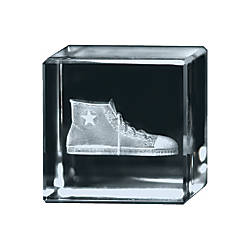 Extra Distance 3D Crystal Cube Paperweight