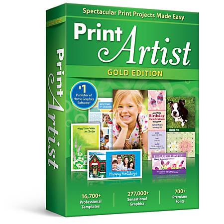 Print Artist Gold, Download Version