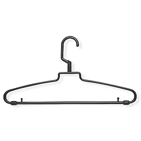 "Honey-Can-Do Hotel-Style Hangers With Swivel Pegs, 8 1/4""H x 1/2""W x 15 1/4""D, Brown, Pack Of 72"