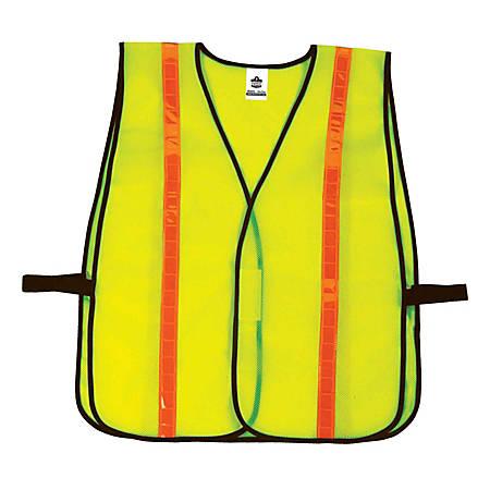 Ergodyne GloWear Safety Vest, Hi-Gloss Non-Certified, Lime, 8040HL