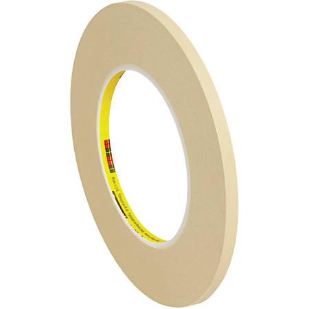 "3M™ 231 Masking Tape, 3"" Core, 0.25"" x 180', Tan, Case Of 12"