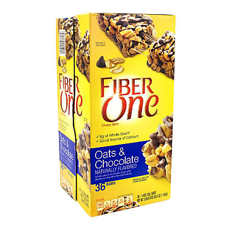 FIBER ONE Chewy Bars Oats and Chocolate, 1.4 oz, 30 Count