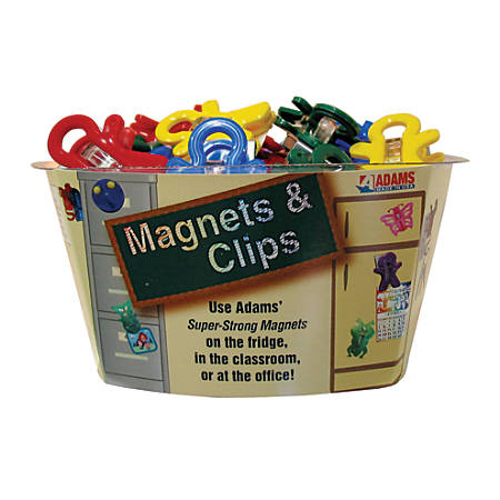 "Adams® Magnet Man® Magnets, 1"", Multicolor, Pack Of 40"