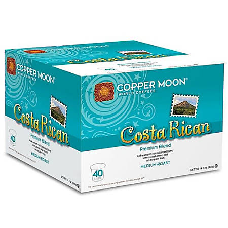 Copper Moon Coffee K-Cups®, Costa Rican Blend, 14.1 Oz, Pack Of 40 K-Cups