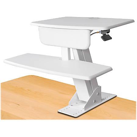 Kantek Desk-Mounted Sit-To-Stand Workstation, White