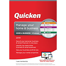 Quicken Home Business 2019 1 Year