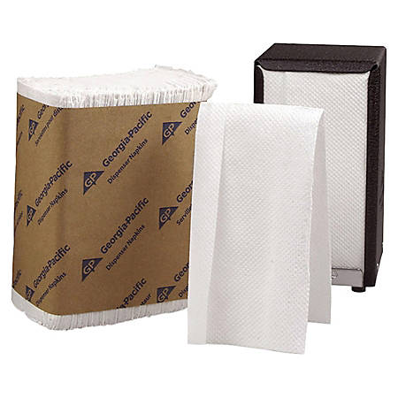 Georgia-Pacific Acclaim® HYNAP® White Tall Fold Dispenser Napkins, White, Sleeve Of 250, Case Of 40 Sleeves