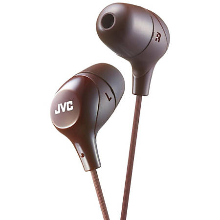 JVC Marshmallow HA-FX38T Earphone - Stereo - Brown - Wired - Gold Plated Connector - Earbud - Binaural - In-ear - 3.30 ft Cable