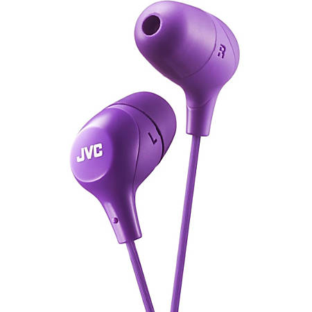 JVC Marshmallow HA-FX38V Earphone - Stereo - Violet - Wired - Gold Plated Connector - Earbud - Binaural - In-ear - 3.30 ft Cable