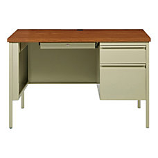 Lorell Fortress Steel Right Pedestal Desk
