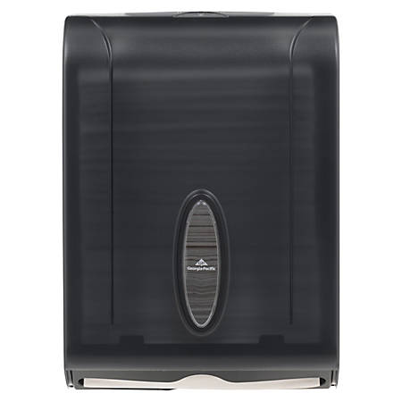 "Georgia-Pacific® See-Thru Combifold Towel Dispenser, 15 2/5"" x 11"" x 5 1/2"", Smoke"