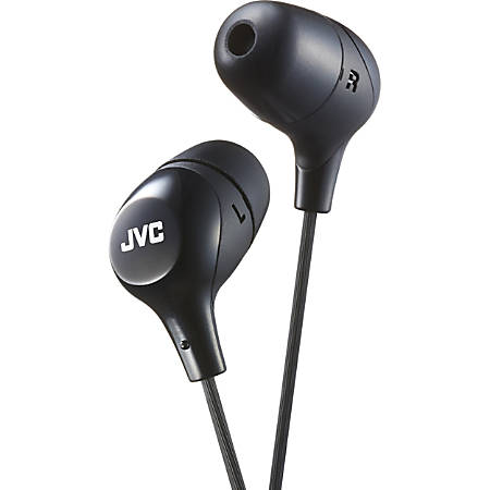 JVC Marshmallow HA-FX38MB Earset - Stereo - Wired - Earbud - Binaural - In-ear - 3.28 ft Cable - Black