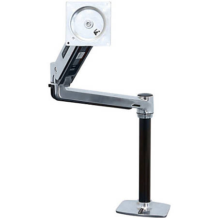 """Ergotron Mounting Arm for Flat Panel Display - Polished Aluminum - 46"""" Screen Support - 30 lb Load Capacity"""