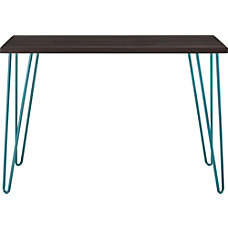 Ameriwood Home Owen Retro Desk EspressoTeal