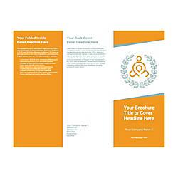 Customizable Trifold Brochure Orange Yoga