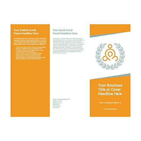 Customizable Trifold Brochure, Orange Yoga