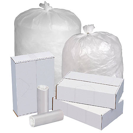 """Highmark™ Linear Low Density Can Liners, 0.9-mil, 60 Gallons, 38"""" x 58"""", Clear, Box Of 100"""