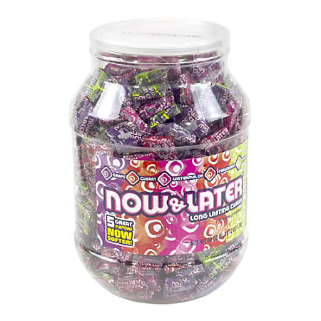 Now & Later Candies, Assorted Flavors, Jar Of 365
