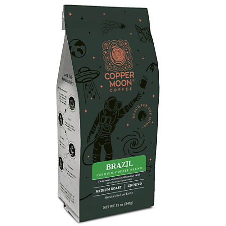Copper Moon Coffee Ground Coffee, Brazil Blend, 12 Oz