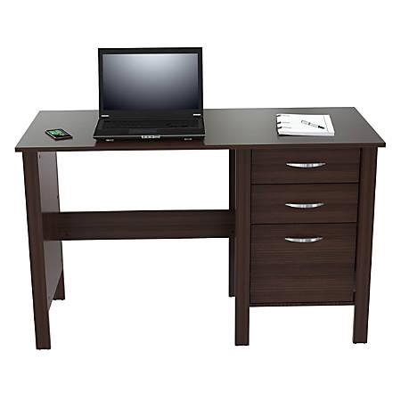 Inval Writing Desk, 3 Drawers, Espresso