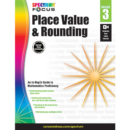 Spectrum® Place Value and Rounding, Grade 3