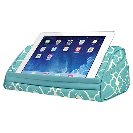 "LapGear Designer Tablet Pillow, 5""H x 12""W x 6""D, Aqua, 35512"