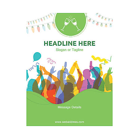Custom Flyer, Vertical, Party Celebration