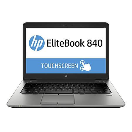 "HP Elitebook 840 G1 Refurbished Laptop, 14"" Touch Screen, Intel® Core™ i5, 8GB Memory, 500GB Hard Drive, Windows® 10, H840G1TCI58500WP"