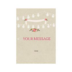 Flat Photo Greeting Card Wedding Celebration