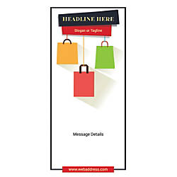 Custom Vertical Banner Shopping Bags