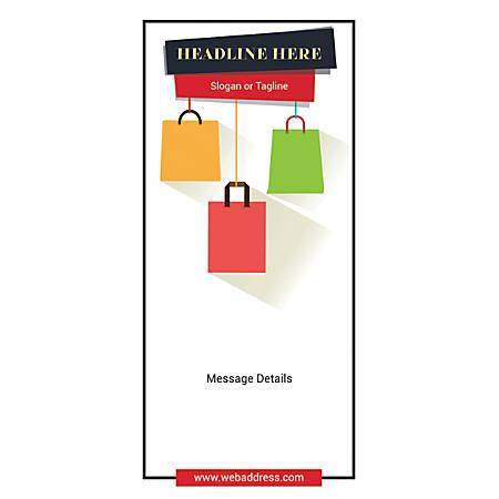 Custom Vertical Banner, Shopping Bags