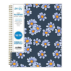 Blue Sky Polypropylene Academic WeeklyMonthly Planner