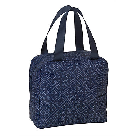 """Office Depot® Insulated Lunch Tote With Pocket, 7-1/2""""H x 8-1/2""""W x 3-15/16""""D, Blue"""
