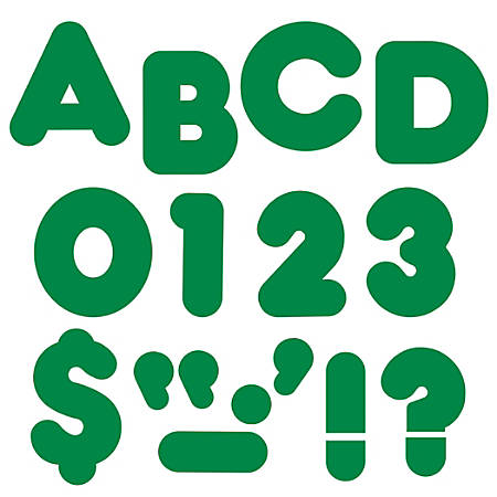 "TREND Ready Letters®, Casual, 4"", Kelly Green, Pre-K - Grade 12, Pack Of 72"