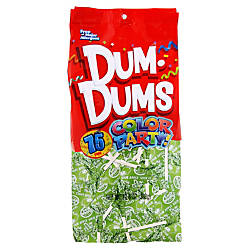 Dum Dums Sour Apple Lollipops Party